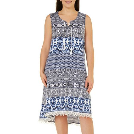Dept 222 Plus Fade to Blue Crochet Hem