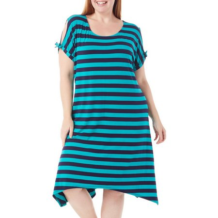 Dept 222 Plus Cabana Nights Stripe Dress