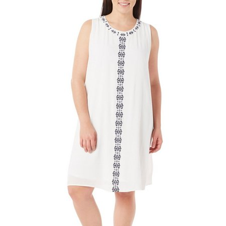 Dept 222 Plus Fade To Blue Crepon Sleeveless