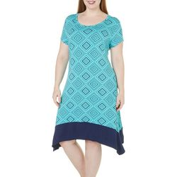 Dept 222 Plus Catch My Drift Geometric Dress