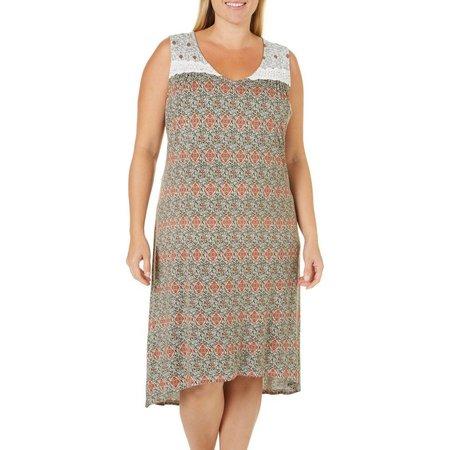 Dept 222 Plus Sunset Delight Lace Trim Dress