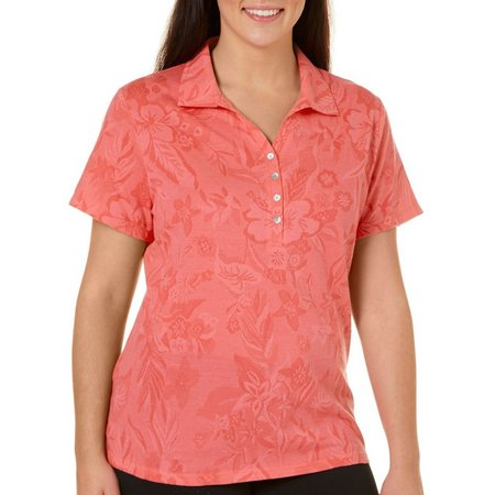 Caribbean Joe Plus Essentials Jaquard Polo Shirt