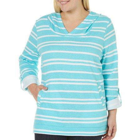 SunBay Plus Stripe Pocket Hoodie