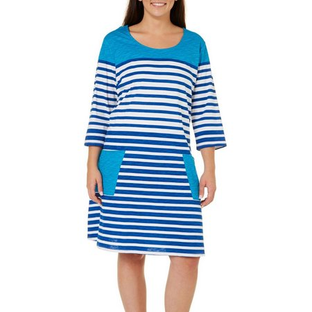 SunBay Plus Stripe Pocket Dress