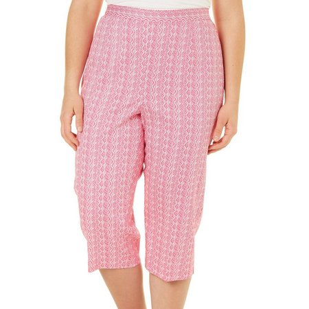 Alfred Dunner Plus Seahorse Seashell Capris