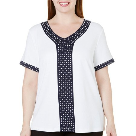 Alfred Dunner Plus Seas The Day Dot Center