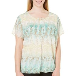 Alfred Dunner Plus Ladies Who Lunch Python Top