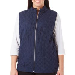 Alfred Dunner Plus Uptown Girl Quilted Vest