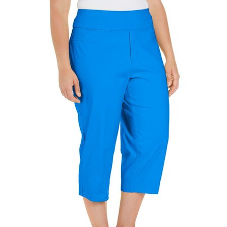 New! Alfred Dunner Plus Corsica Solid Pull-On Capris