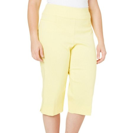 Alfred Dunner Plus Solid Stretch Capris