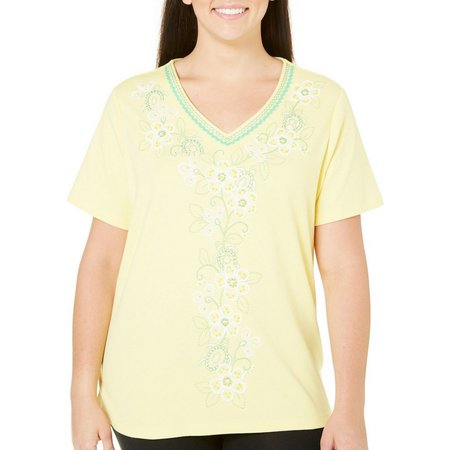 Alfred Dunner Plus Bahama Bays Floral Top