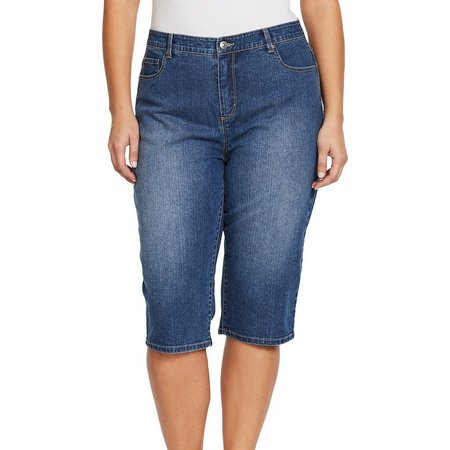 Gloria Vanderbilt Plus Amanda Skimmers Denim Shorts