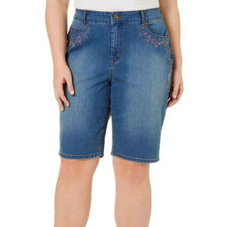 Gloria Vanderbilt Plus Jessa Bermuda Shorts