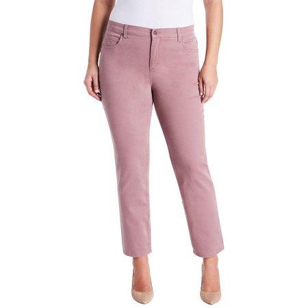 Gloria Vanderbilt Plus Amanda Solid Average Jeans