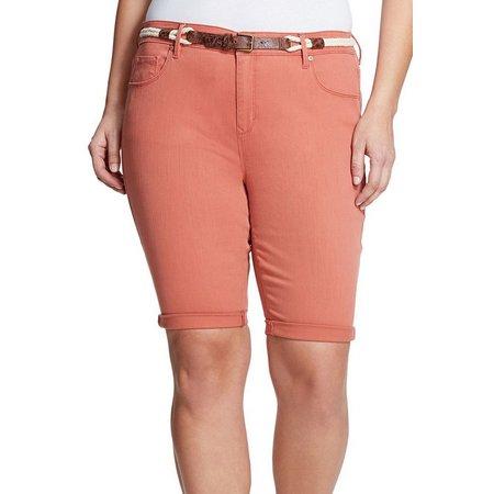 Gloria Vanderbilt Plus Joslyn Belt Shorts