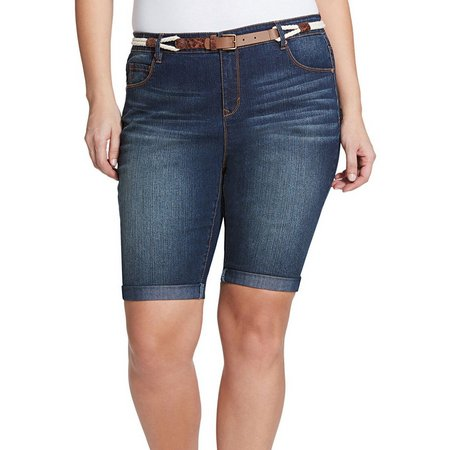 New! Gloria Vanderbilt Plus Joslyn Belt Bermuda Shorts