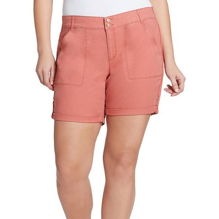 Gloria Vanderbilt Plus Maren Rolled Hems Shorts