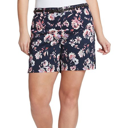 Gloria Vanderbilt Plus Nimah Garden Print Shorts