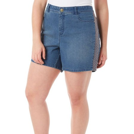 Gloria Vanderbilt Plus Danica Embroidered Shorts