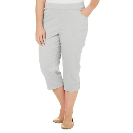 Gloria Vanderbilt Plus Avery Solid Capris