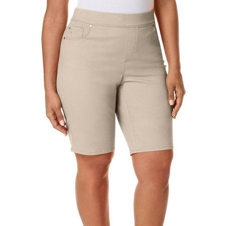 Gloria Vanderbilt Plus Avery Solid Bermuda Shorts