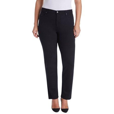 Gloria Vanderbilt Plus Amanda Ponte Pocket Embroidery Pants