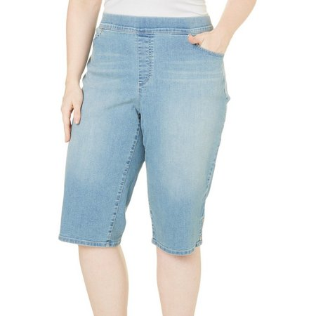 Gloria Vanderbilt Plus Avery Whiskered Shorts