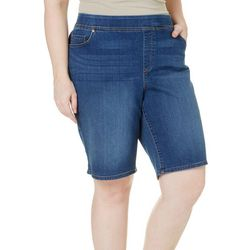 Gloria Vanderbilt Plus Avery Pull-On Denim Shorts