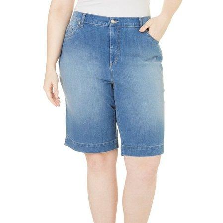 Gloria Vanderbilt Plus Amanda Denim Bermuda Shorts