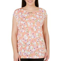 Nue Options Plus Flower Print Top