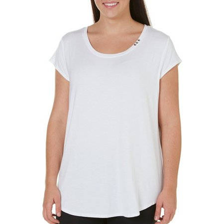Nue Options Plus Solid Button Accent Top
