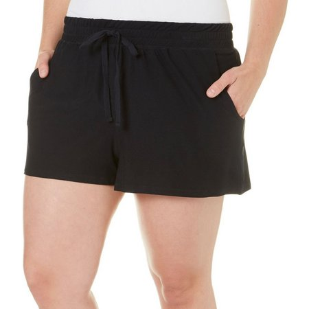 Derek Heart Juniors Plus Solid Tie Front Shorts