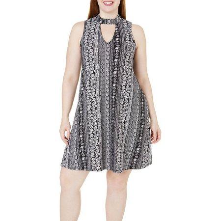 Derek Heart Juniors Plus Print GiGi Dress