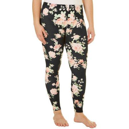 Derek Heart Juniors Plus Floral Leggings