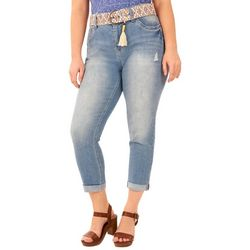 Wallflower Juniors Plus Fern Rolled Crop Jeans