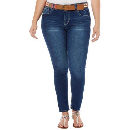 Wallflower Juniors Plus Curvy Fit Skinny Jeans