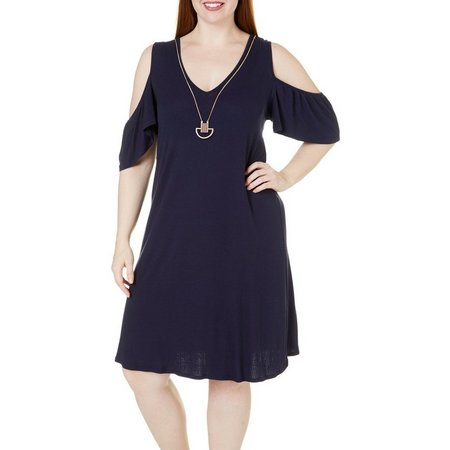 Bailey Blue Juniors Plus Cold Shoulder Dress