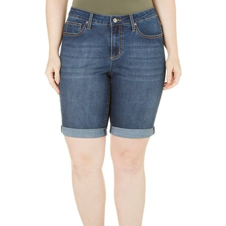 Earl Jean Plusl Cuffed Bermuda Jean Shorts
