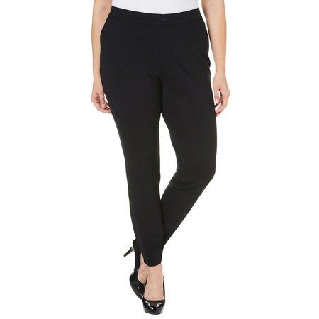 Khakis & Co Plus Solid Double Knit Pants