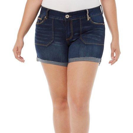 Ariya Juniors Plus Curvy Denim Shorts