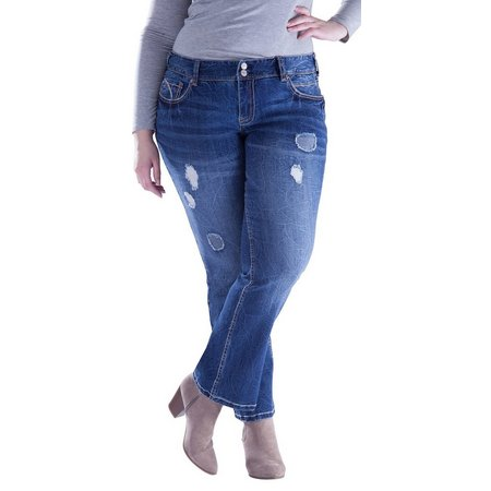 Amethyst Juniors Plus Regular Curvey Bootcut Jeans