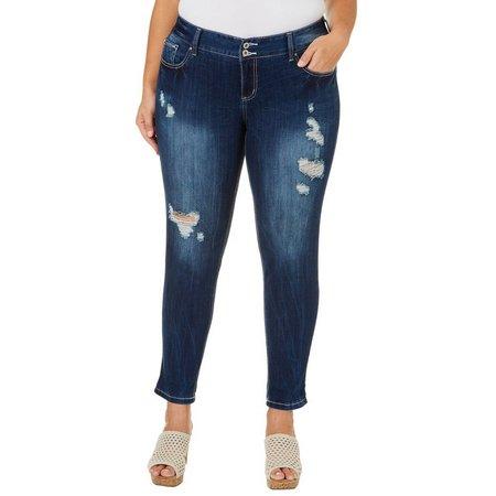 Amethyst Juniors Plus Regular Curvy Skinny Jeans