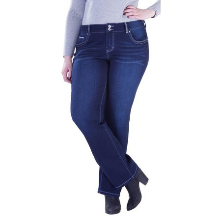 Amethyst Junior Plus Embroidered Boot Cut Jeans