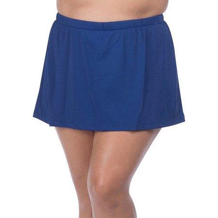 Maxine Plus Elastic Waist Solid Swim Skirt