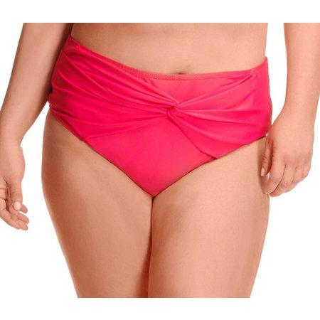Paramour Plus Bow Front High Waist Swim Bottoms