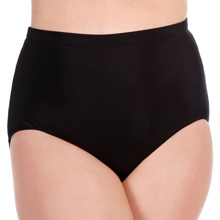 Paradise Bay Plus Girl Leg Solid Swim Bottoms