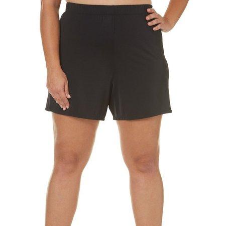 A Shore Fit Plus Solid Swim Shorts