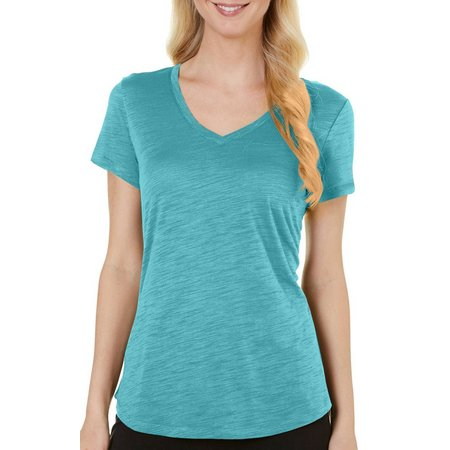 Dept 222 Petite Heather Slub Knit T-Shirt
