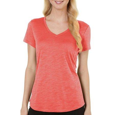 Dept 222 Petite Heather Slub Knit T-Shirt