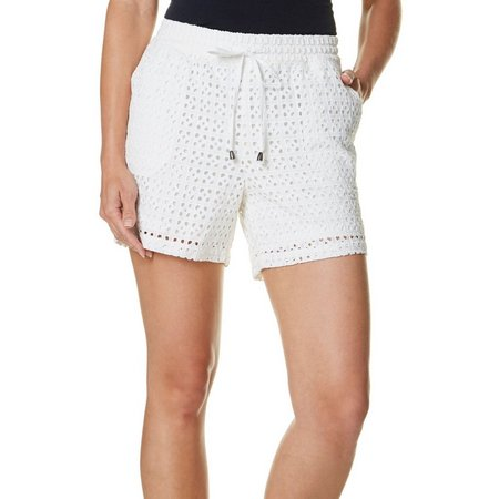 Dept 222 Petite Fade to Blue Eyelet Pull-On